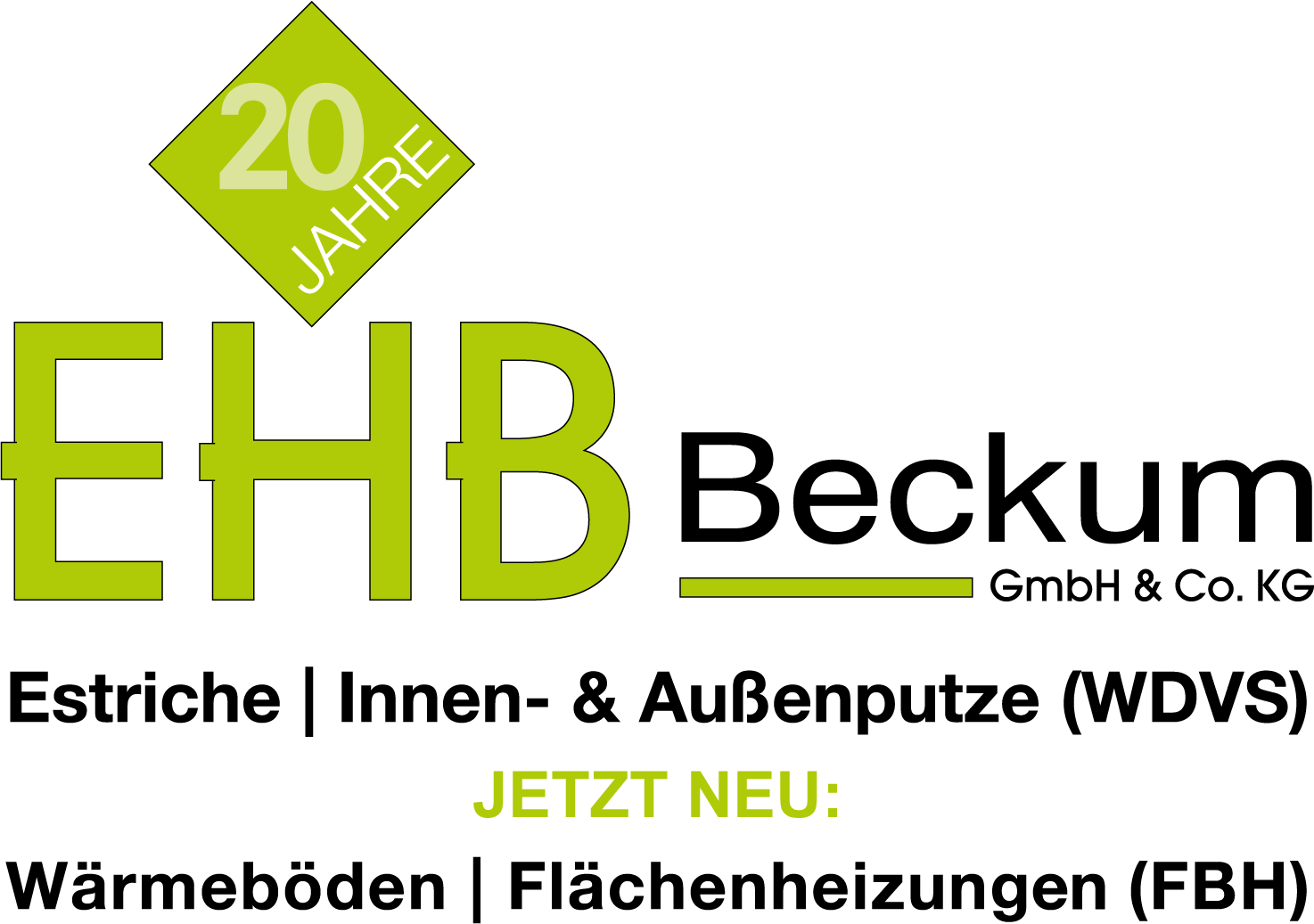 EHB Beckum GmbH & Co. KG | Estriche | Innenputz- & Aussenputze (WDVS) | Wärmedämmverbundsystem | Wärmeböden | Flächenheizungen in Form von Fussbodenheizungen